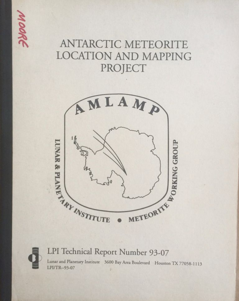 Antarctic meteorite location and mapping project (AMLAMP); Antarctic meteorite location map series explanatory text and user's guide to AMPLAMP data. J. Fessler Schutt, W. A. Corp, B. Cassidy.