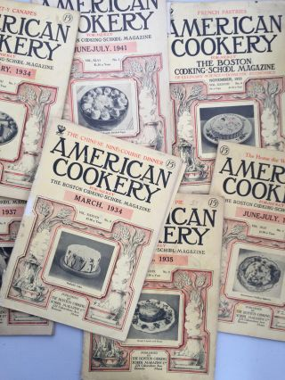 American Cookery Magazine [8 issues]. NA