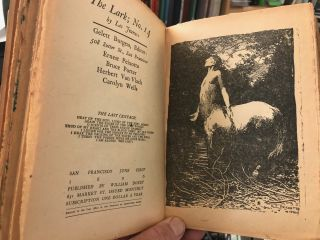 """""""Who'll be the clerk?"""" """"I!"""" said the Lark : book the first : nos. 1 to 12, May 1895 to April 1896. [together with] """"Who'll be the clerk?"""" """"I!"""" said the lark : book the second : nos. 13 to 24, May 1896 to April 1897. [ The Lark, Books I & II ]"""